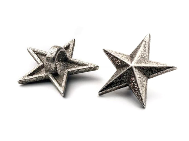 Shoelace Stars in Stainless Steel