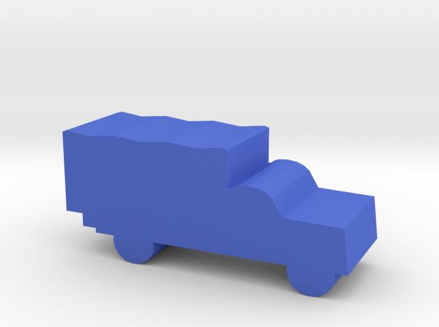 Game Piece, WW2 Blitz Truck in Blue Processed Versatile Plastic