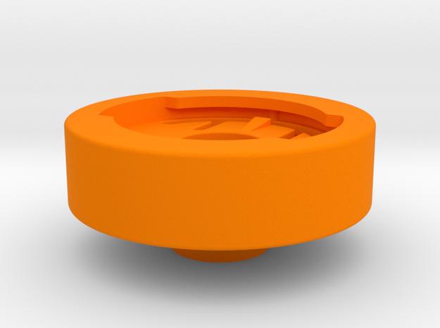 Edge Stem Cap Mount in Orange Processed Versatile Plastic