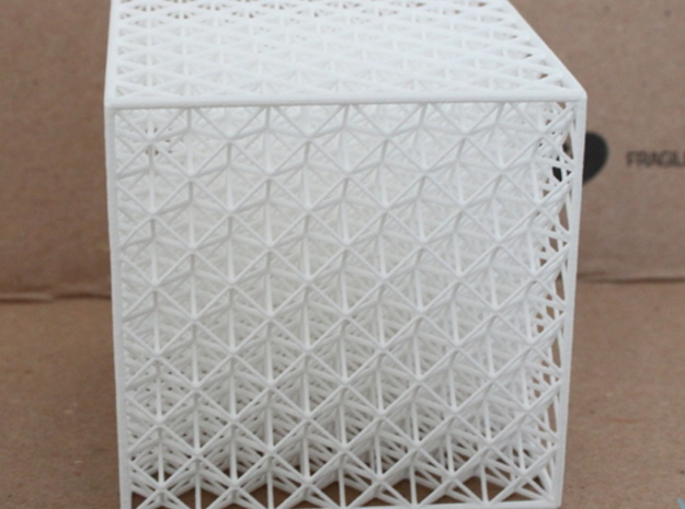 Octet Truss Cube (6x6x6) in White Strong & Flexible