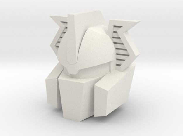 Shinehead Head (Vehicon) in White Natural Versatile Plastic