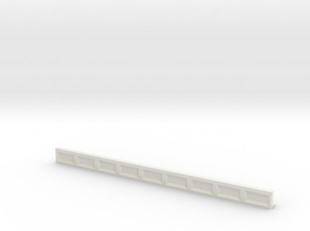 Bahnsteigkante-9er in White Natural Versatile Plastic