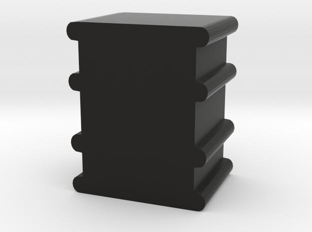 Game Piece, Oil Drum in Black Natural Versatile Plastic