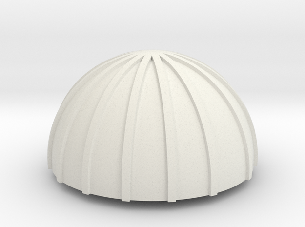 PVC Endcap - Silo 0 in White Strong & Flexible