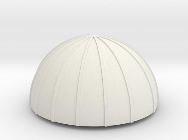 PVC Endcap - Silo 3 in White Strong & Flexible