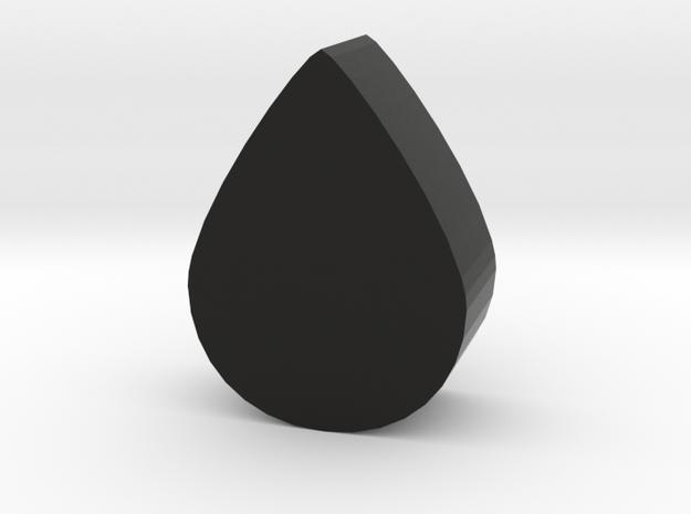 Game Piece, Liquid Drop in Black Natural Versatile Plastic