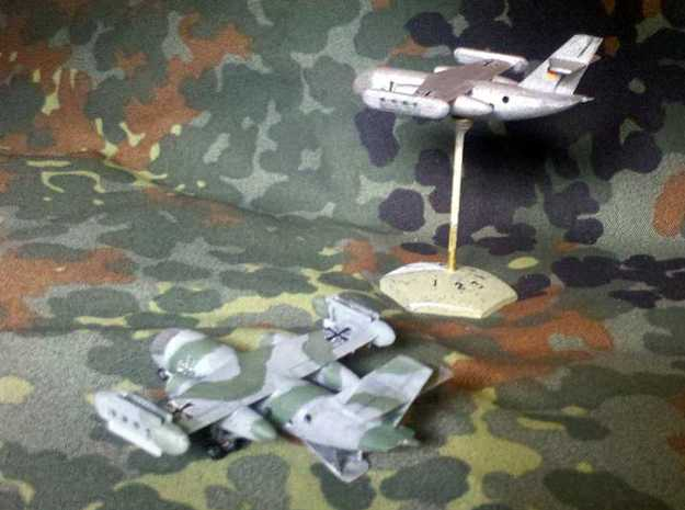 1/300 Dornier Do 31 VTOL Transport 3d printed Both versions of the model