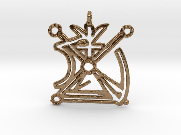 Venus Pendant in Natural Brass
