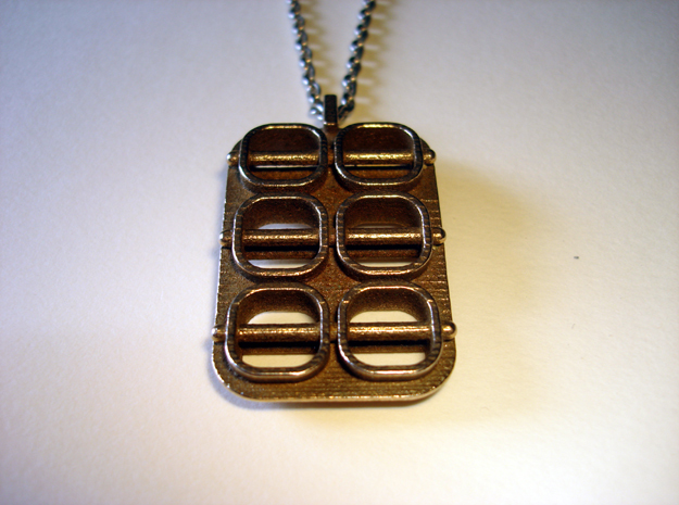 Skewed Necklace Pendant in Stainless Steel