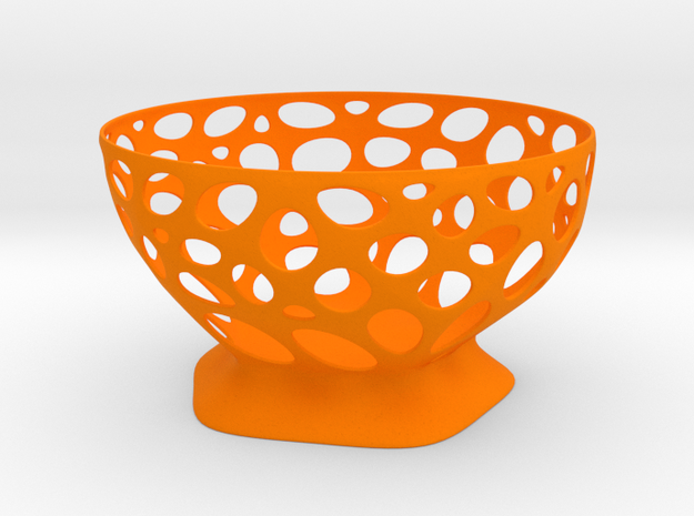 Fruit vase in Orange Strong & Flexible Polished