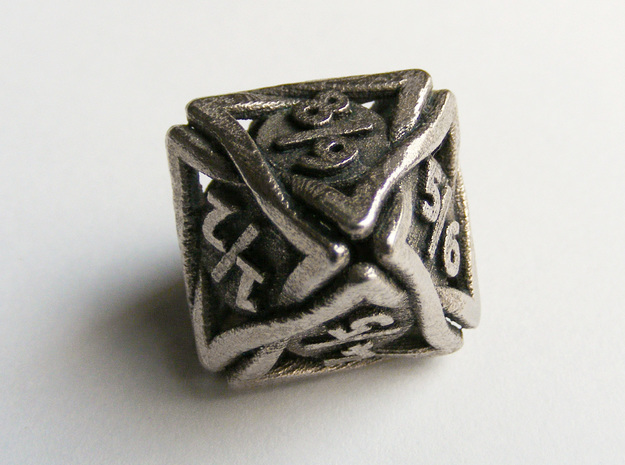 'Twined' Dice D8 Spindown Tarmogoyf P/T Die in Stainless Steel