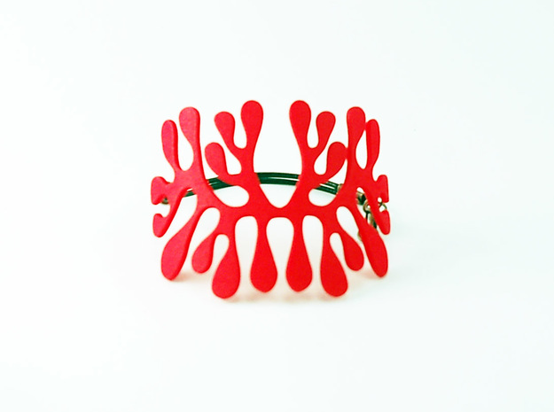 amoeba bracelet in Red Strong & Flexible Polished