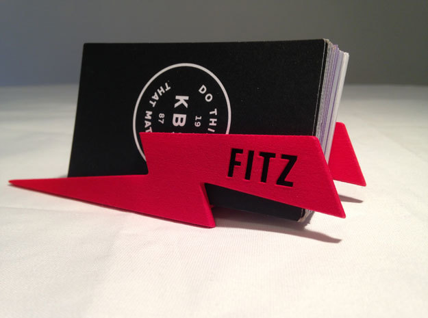 Personalize-able Lightning Bolt Business Card Hold