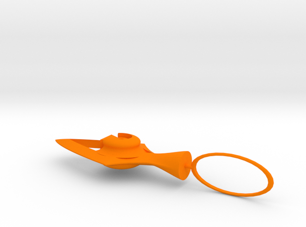 Keychain in Orange Strong & Flexible Polished