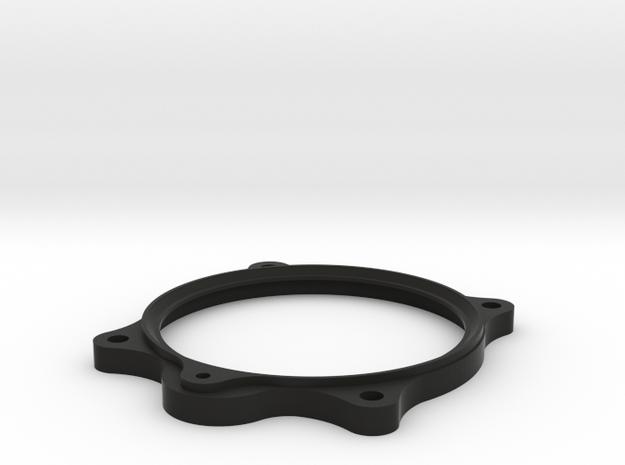 Luft Clock Bezel in Black Natural Versatile Plastic