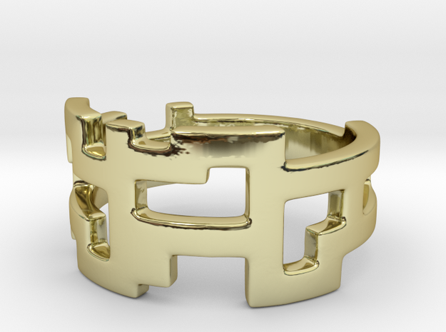 Ring Blocks in 18k Gold Plated Brass