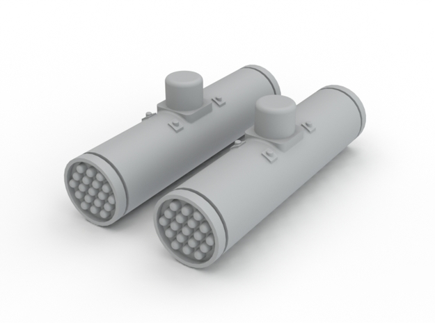 2 Ghost Hawk Rocket Pod Assembly in White Processed Versatile Plastic