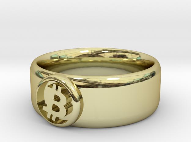 Bitcoin Ring (BTC) - Size 10.5 (U.S. 20.17mm dia) 3d printed