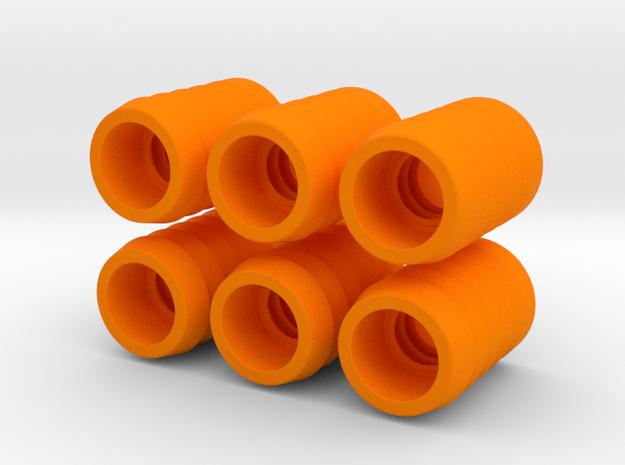 """""""Ladder golf"""" ferrules, set of 6 in Orange Processed Versatile Plastic"""