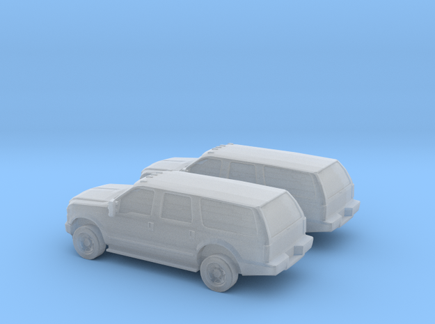 1/160 2X 2010 Ford Excoursion in Smooth Fine Detail Plastic
