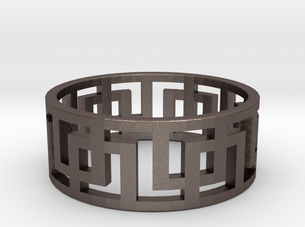 Geometric Ring - Rugged Steel Ring for Him