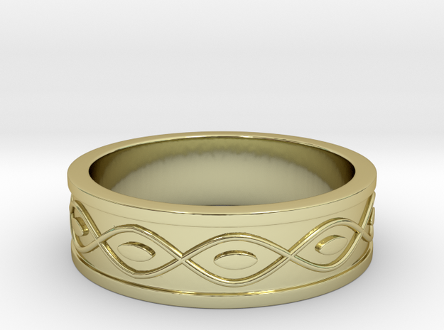 Ring with Eyes - Size 8 in 18k Gold Plated Brass