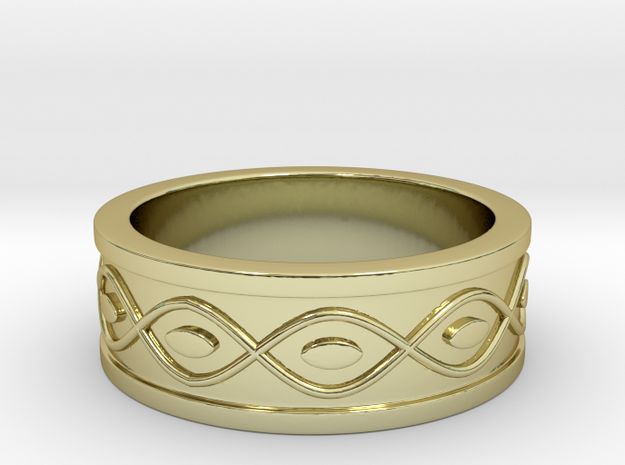 Ring with Eyes - Size 4 in 18k Gold Plated Brass