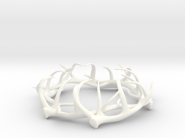 1:12 Antler Decoration in White Processed Versatile Plastic