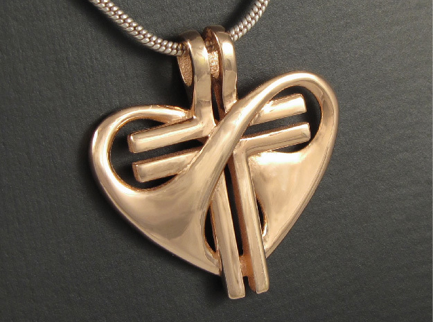 Love and Sacrifice - LARGE in 14k Rose Gold Plated Brass