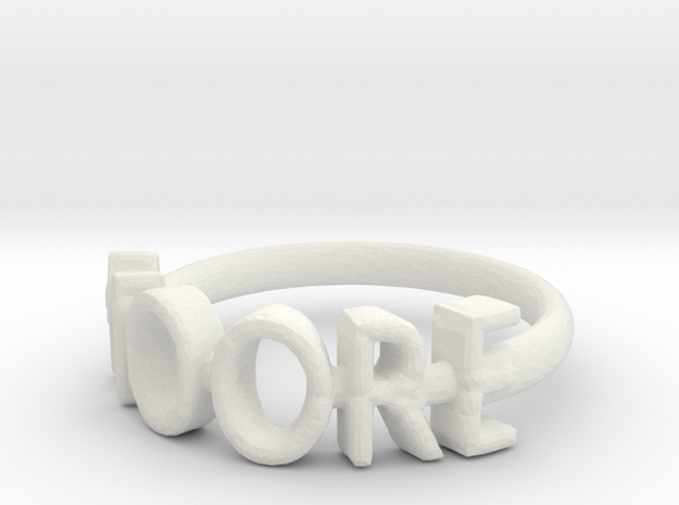 Moore Ring Size 6 in White Strong & Flexible