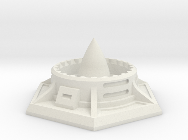 Missile Silo (25mm A/F) in White Natural Versatile Plastic