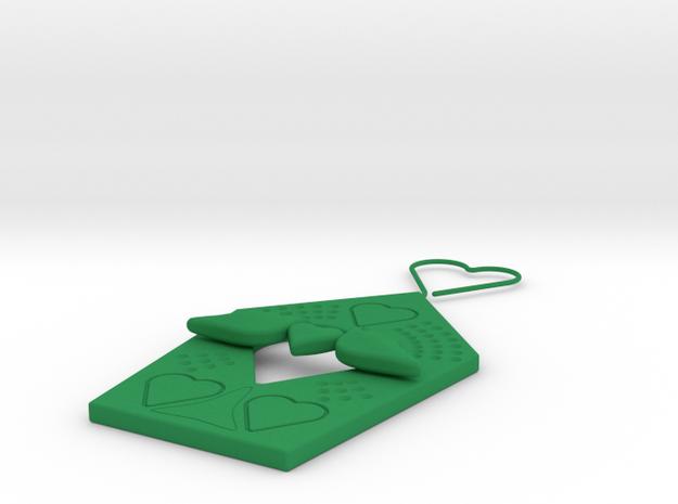 House Birds Heart Couple in Green Processed Versatile Plastic