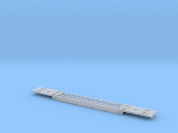 RailJet Wagenboden v1 TT 1:120  in Smooth Fine Detail Plastic