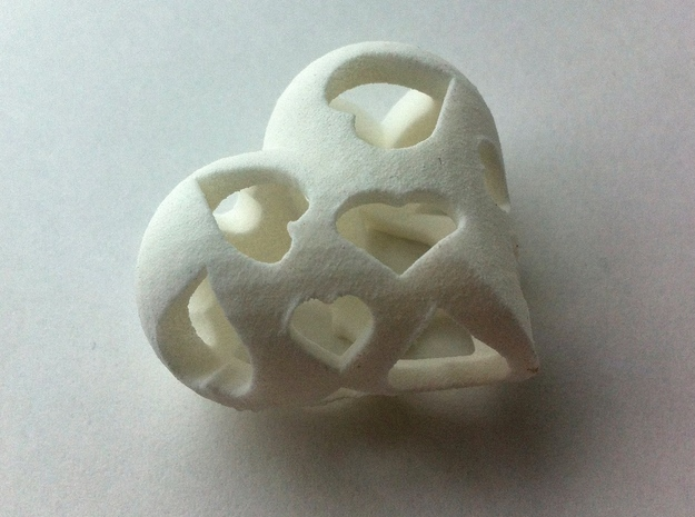 Copy of 1001Hearts in White Natural Versatile Plastic