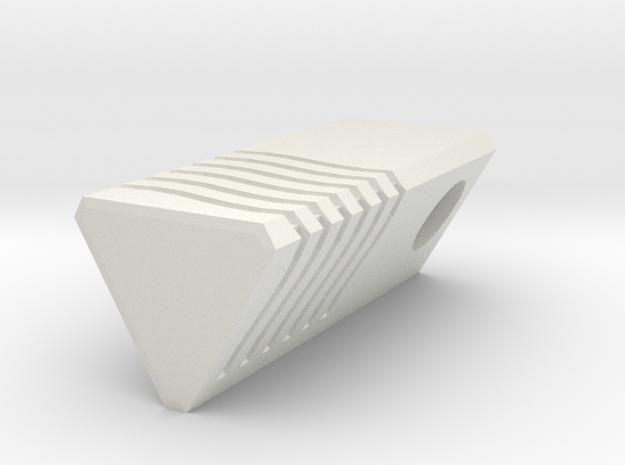 5th Element - Water Stone Pendant 2.5cm in White Natural Versatile Plastic