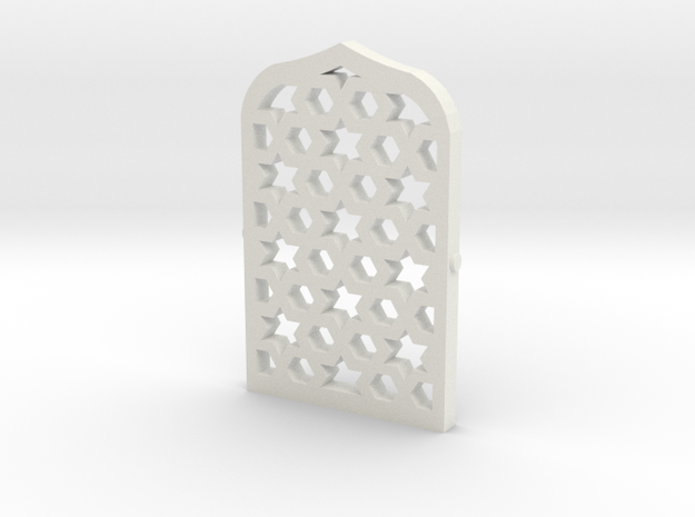 Arabian Window Lattice in White Natural Versatile Plastic