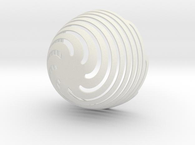 Spiral Bowl in White Natural Versatile Plastic