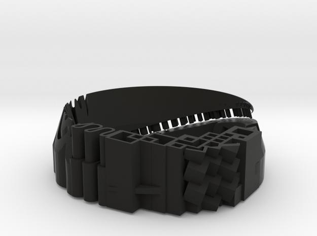 Bracelet material test - Armband Materiaal Test  in Black Natural Versatile Plastic