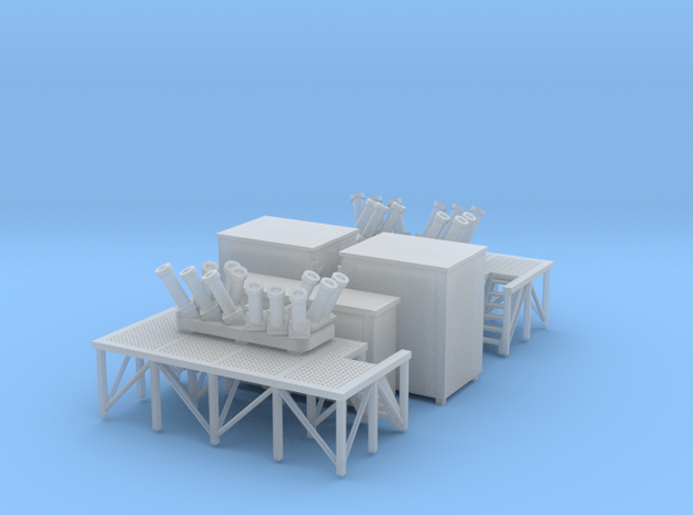 1/96 scale Terma SKWS decoy system w/ Platform, Am in Smooth Fine Detail Plastic