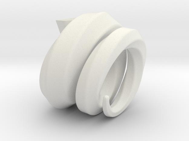Vase002 in White Strong & Flexible