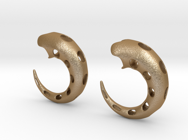 tube earrings01 00g (printing) 3d printed