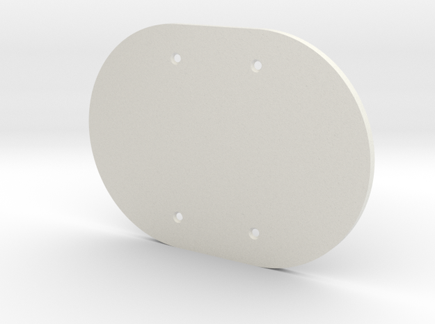 plodes® 2 Gang Blank Outlet Wall Plate in White Strong & Flexible