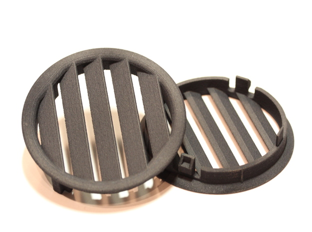 Left Side Ford Focus Ventilation Grid 3d printed Top and bottom view on 3D printed Ford Focus ventilation grid parts