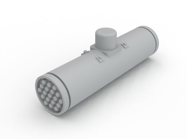 Ghost Hawk Rocket Pod in White Processed Versatile Plastic