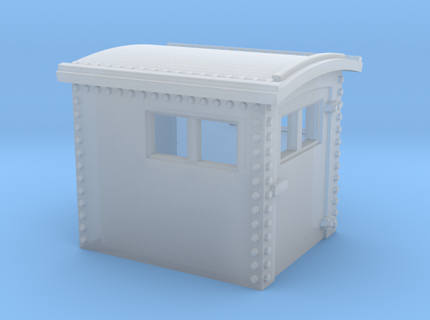 N&W Style Dog House N Scale 1:160 in Smooth Fine Detail Plastic