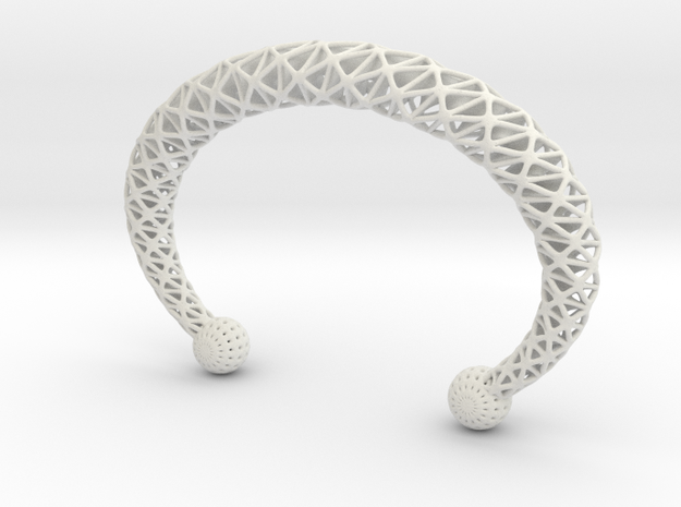 TORC BRACLET in White Natural Versatile Plastic
