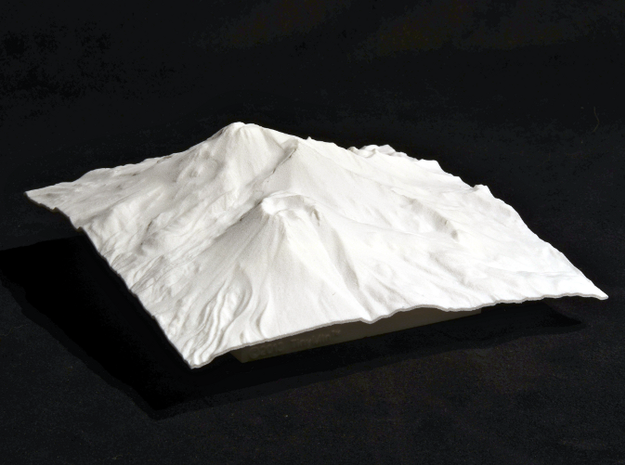 6'' Mt. Shasta Terrain Model, California, USA 3d printed Photo of actual 150mm model