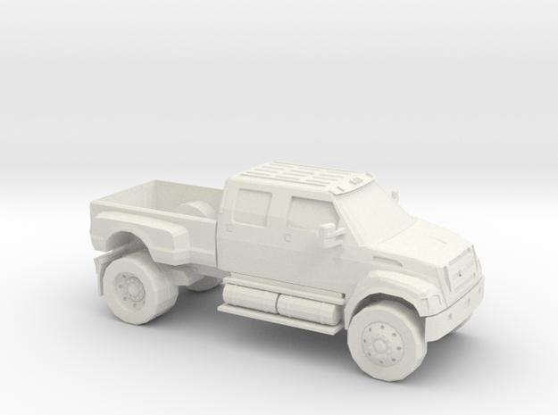 1/64 2000-13 Ford F 650  in White Natural Versatile Plastic