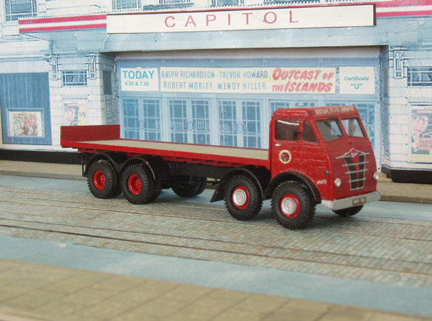 1:43 Foden  1948 FG Cab & 8 Wheel Chassis  in White Processed Versatile Plastic