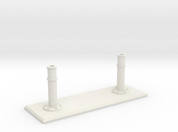 Rails base small in White Natural Versatile Plastic